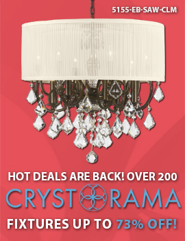 Save OVER 70% on Crystorama's Hot Deals!